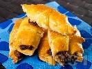 Рецепта Кифлички с банани и шоколад